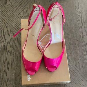Christian Louboutin hot pink pumps 50. AUTHENIC!